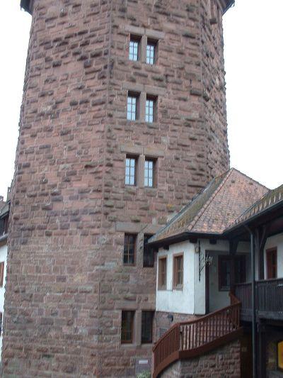 Der Dünne Turm der Burg Rieneck