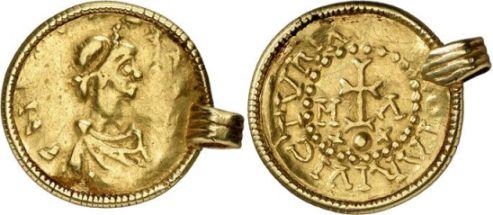 Goldmünze Chlothars II.