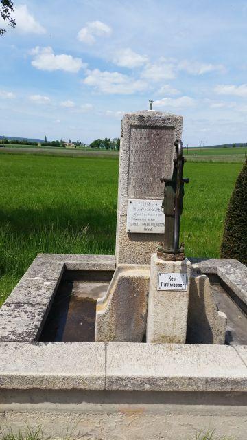 Brunnen an der europäischen Hauptwasserscheide