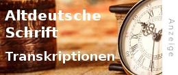 Anzeige: Transkriptionen altdeutsche Schrift