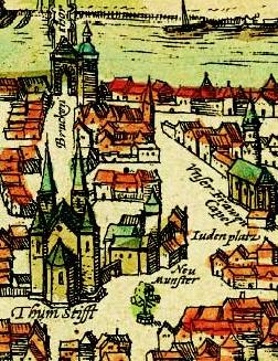 Judenplatz im mittelalterlichen Würzburg